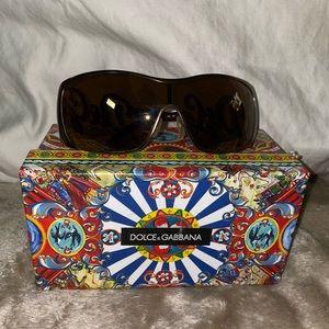 D&G Bronze Metal Authentic Sunglasses